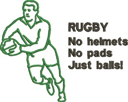 Rugby Outline embroidery design