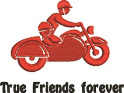 True Friends Forever embroidery design