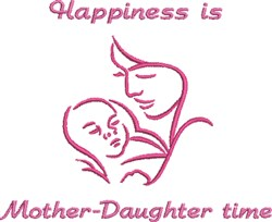 Mother Daughter Time embroidery design