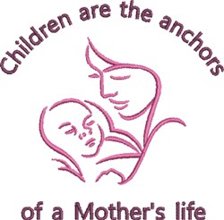 Children Are The Anchors embroidery design