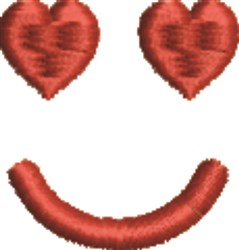 Heart Smiley Face embroidery design