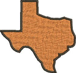 Texas Silhouettte embroidery design