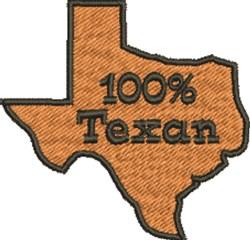 100% Texan embroidery design