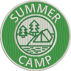 Summer Camp Patch embroidery design