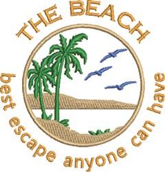 Escape To The Beach embroidery design