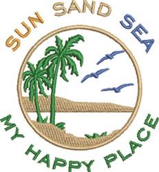 Sun Sand & Sea embroidery design