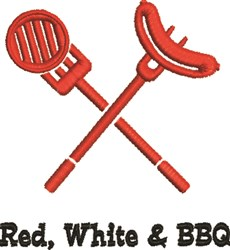 Red, White & BBQ embroidery design