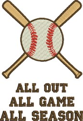 All Out All Season embroidery design