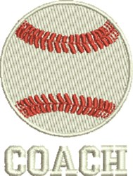 Baseball Coach embroidery design