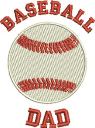 Baseball Dad embroidery design
