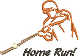 Home Run Outline embroidery design