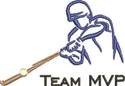Team MVP Outline embroidery design