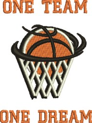 Basketball Dreams embroidery design