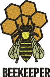 Beekeeper embroidery design
