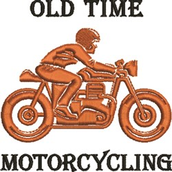 Old Time Motorcycling embroidery design
