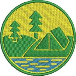 Campsite Patch embroidery design
