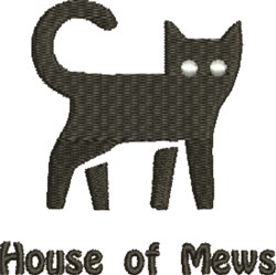 House Of Mews embroidery design