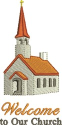 Welcome To Our Church embroidery design