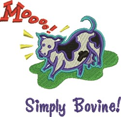 Simply Bovine! embroidery design