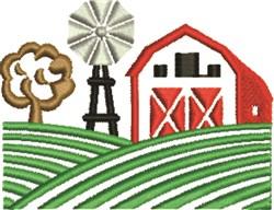 Farm Scene embroidery design