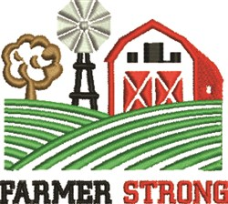 Farmer Strong embroidery design