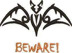 Halloween Bat Outline embroidery design