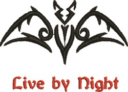 Live By Night embroidery design