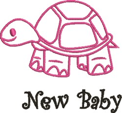 Happy Turtle Outline embroidery design