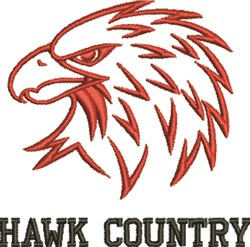 Hawk Country embroidery design