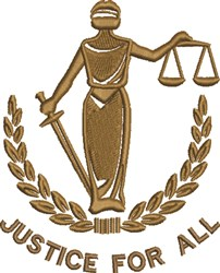 Justice For All embroidery design