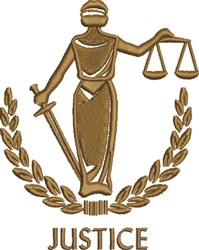 Lady Justice embroidery design