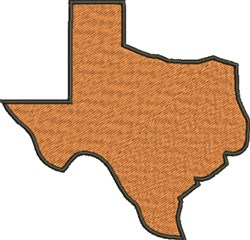 Large Texas Silhouette embroidery design