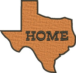 Large Texas Home embroidery design