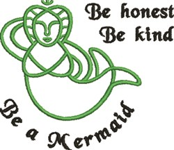 Be A Mermaid Outline embroidery design