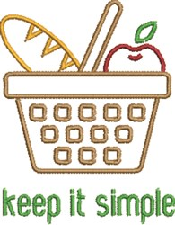 Picnic Basket Outline embroidery design