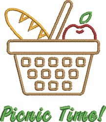 Picnic Time! embroidery design