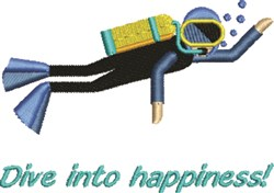 Dive Into Happiness! embroidery design