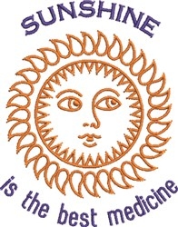 Sunshine, The Best Medicine embroidery design