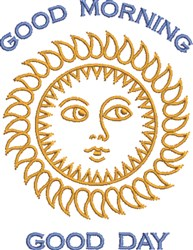 Good Morning, Good Day embroidery design