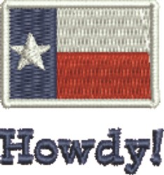 Howdy! embroidery design