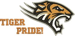 Tiger Pride embroidery design
