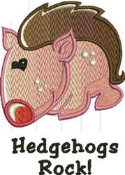Hedgehogs Rock embroidery design