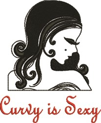 Curvy Is Sexy embroidery design