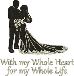 My Whole Heart embroidery design