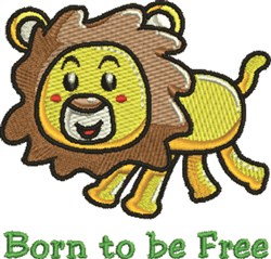 Born to be Free embroidery design