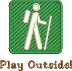 Play Outside embroidery design