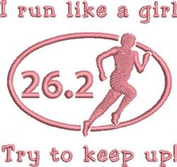 Run Like Girl embroidery design