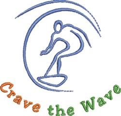 CraveThe Wave embroidery design