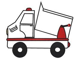 Dump Truck Outline embroidery design