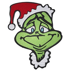 The Grinch embroidery design